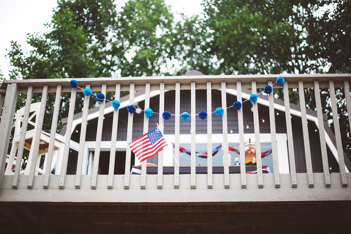 Fourth of July deck decorations