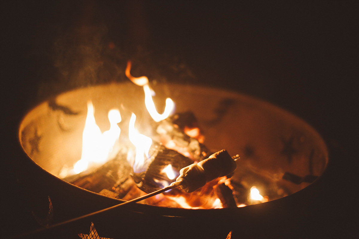 Campfire with S'mores
