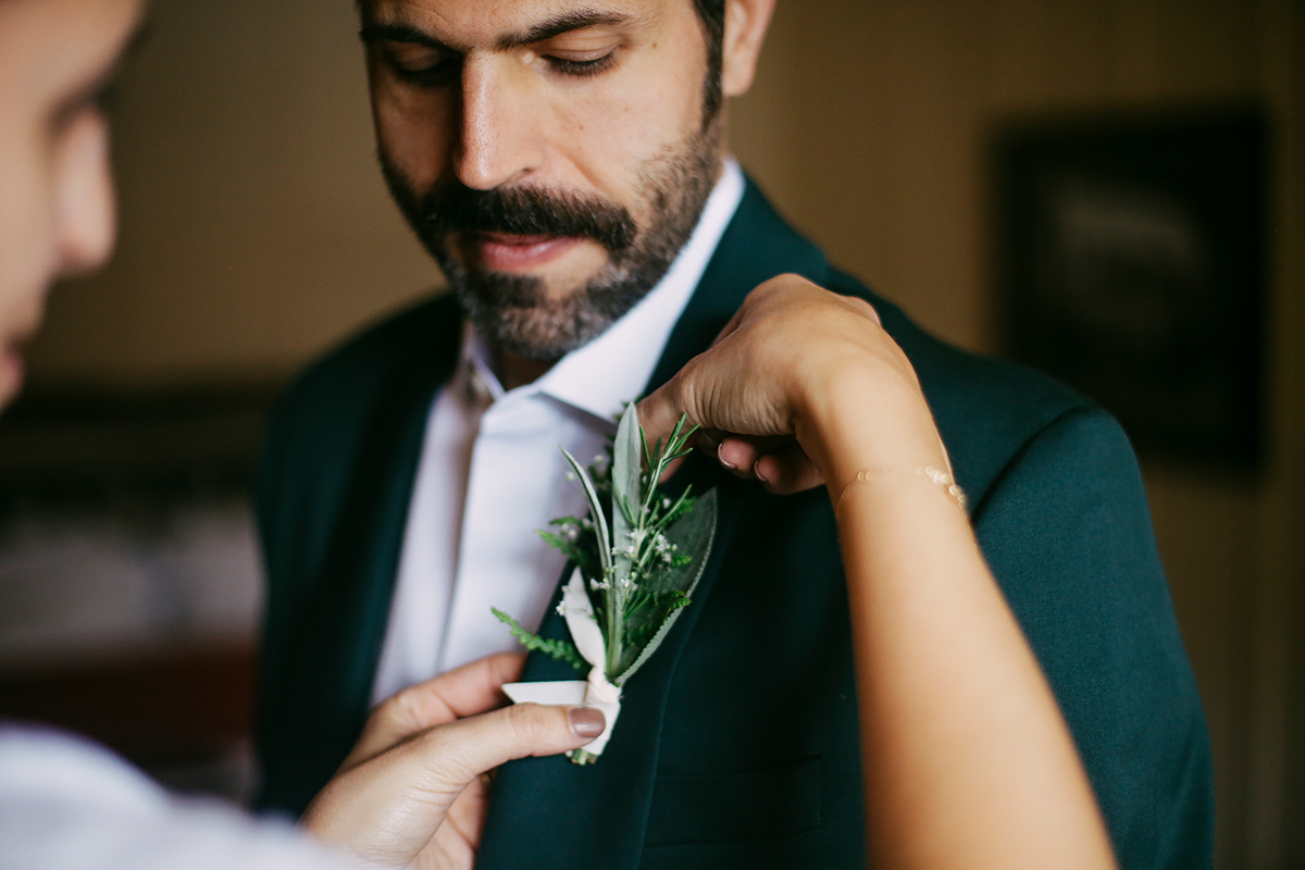 Groom and boutonnière
