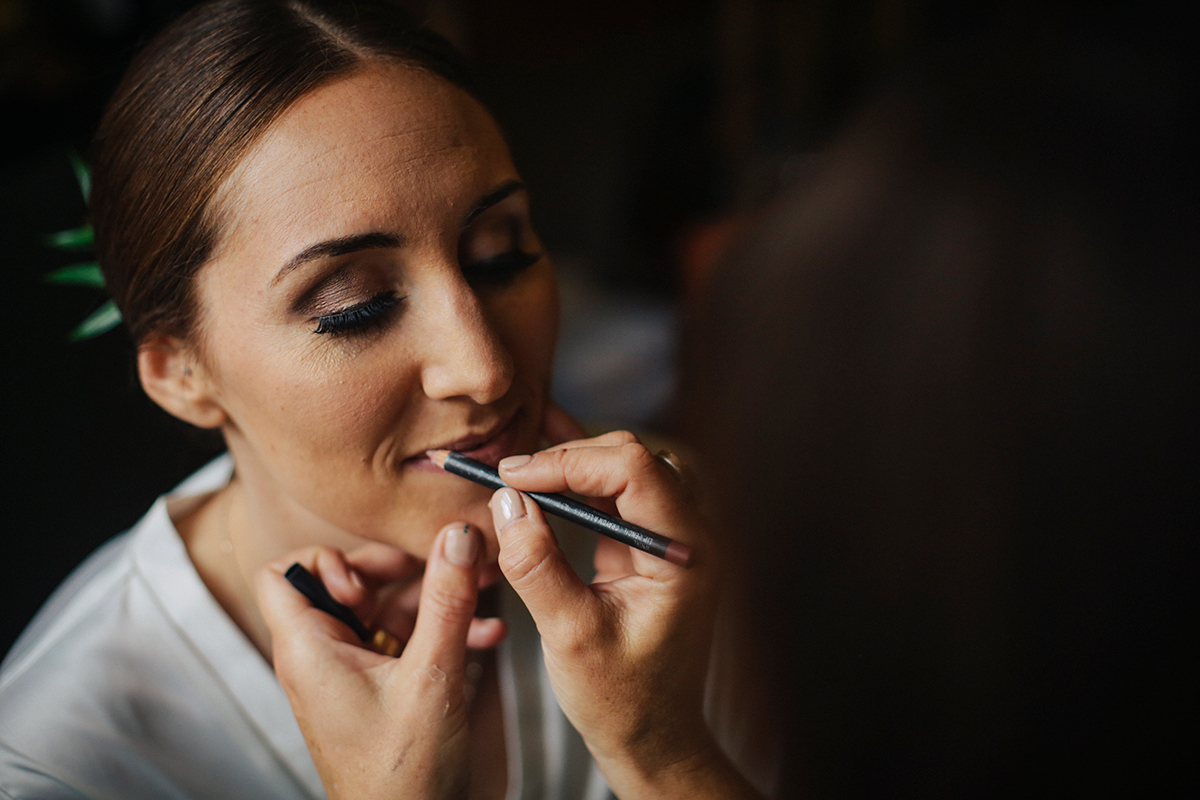 Bride and makeup