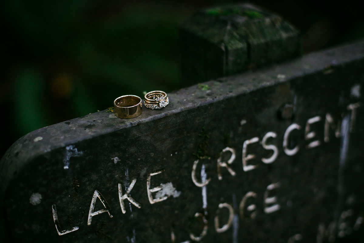 Rings on top of sign