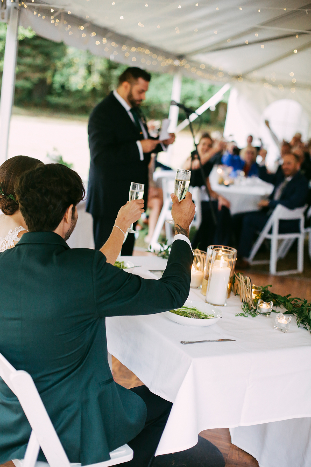 Brother of the groom giving his toast