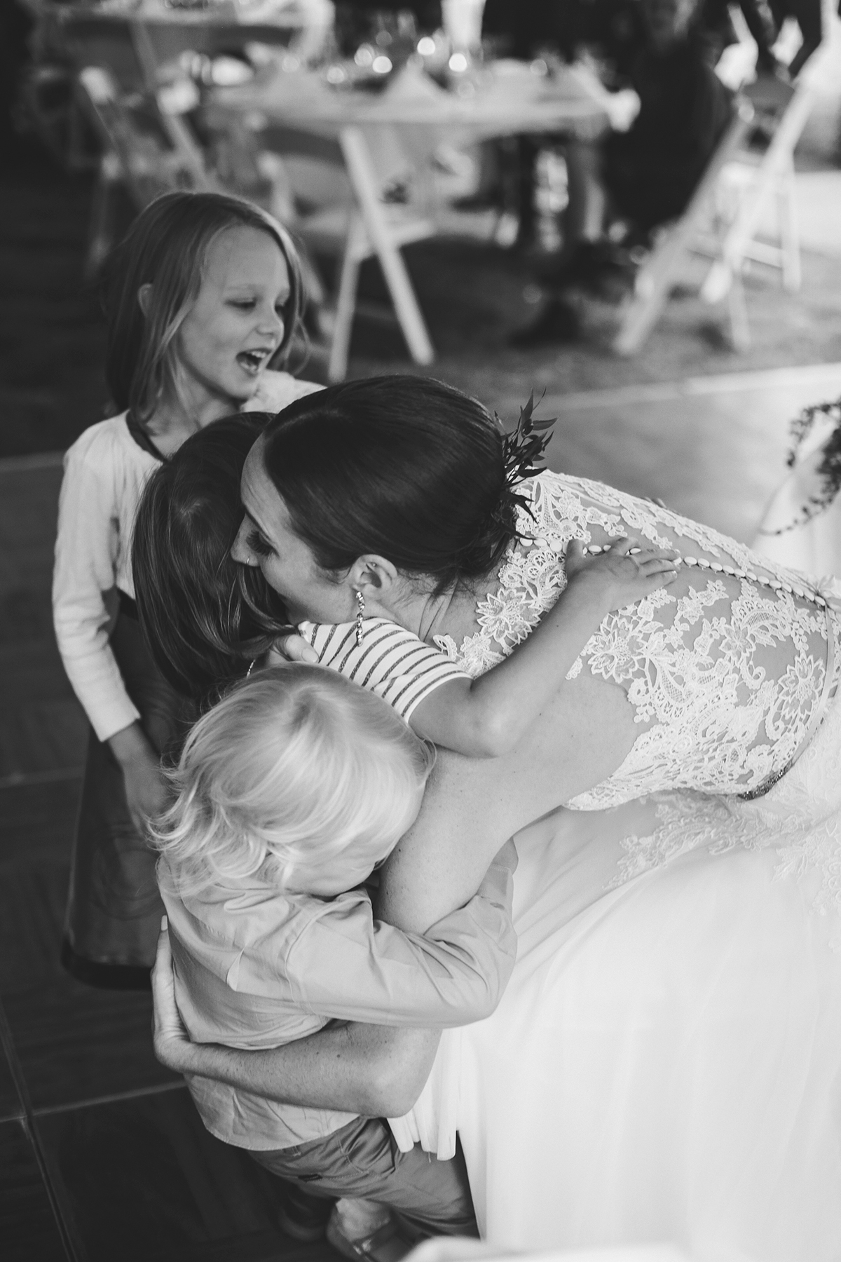 Bride with her favorite kids