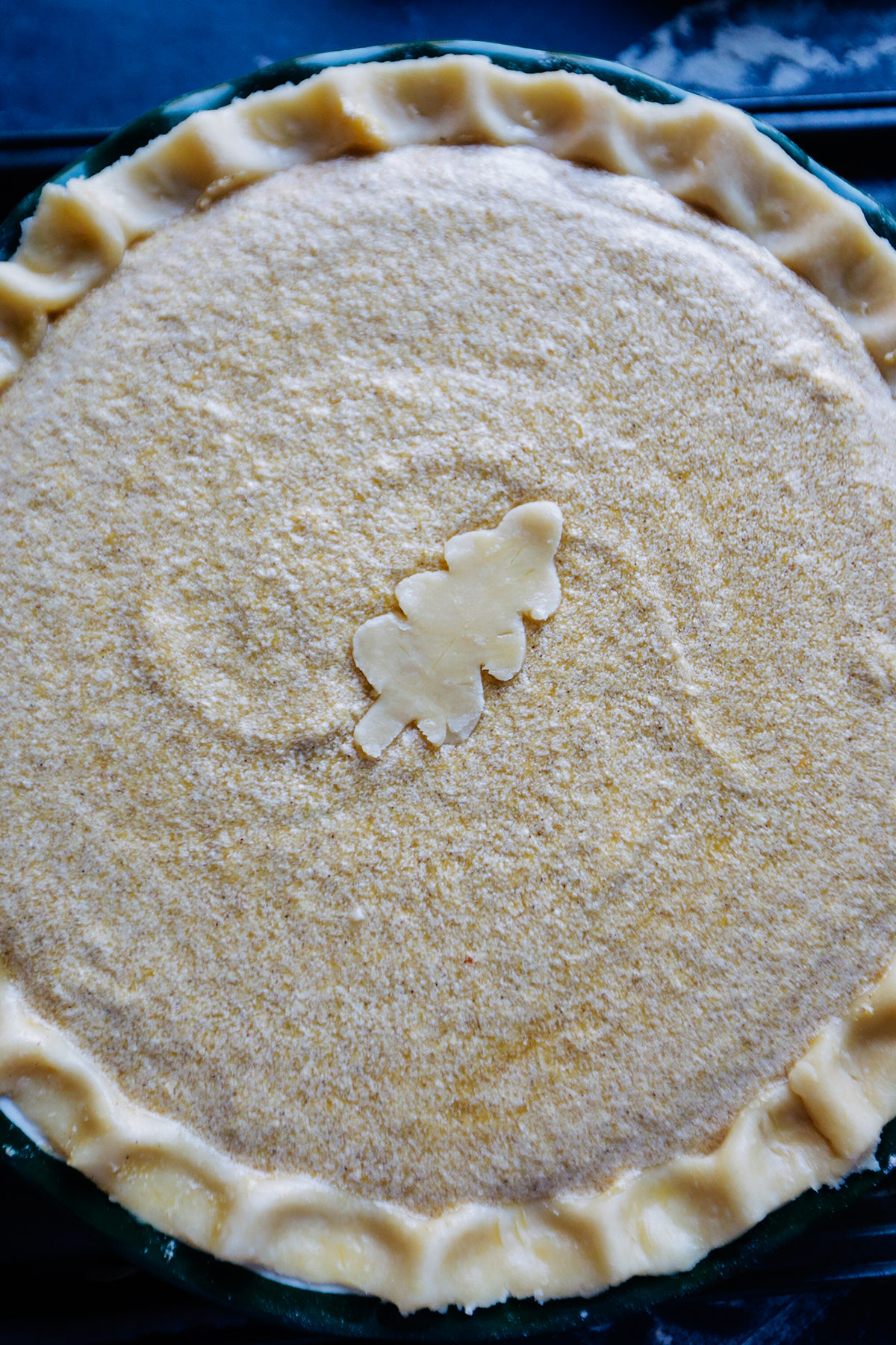 Pie crust with filling