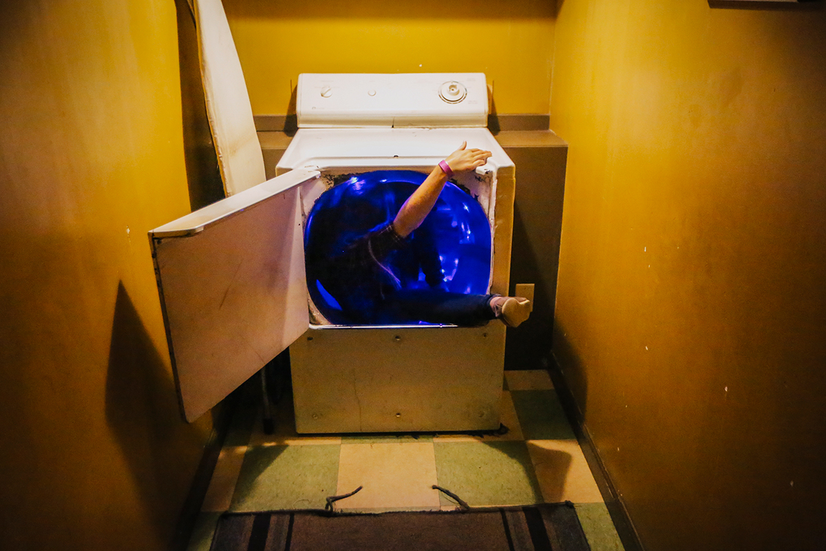 Climbing into the dryer