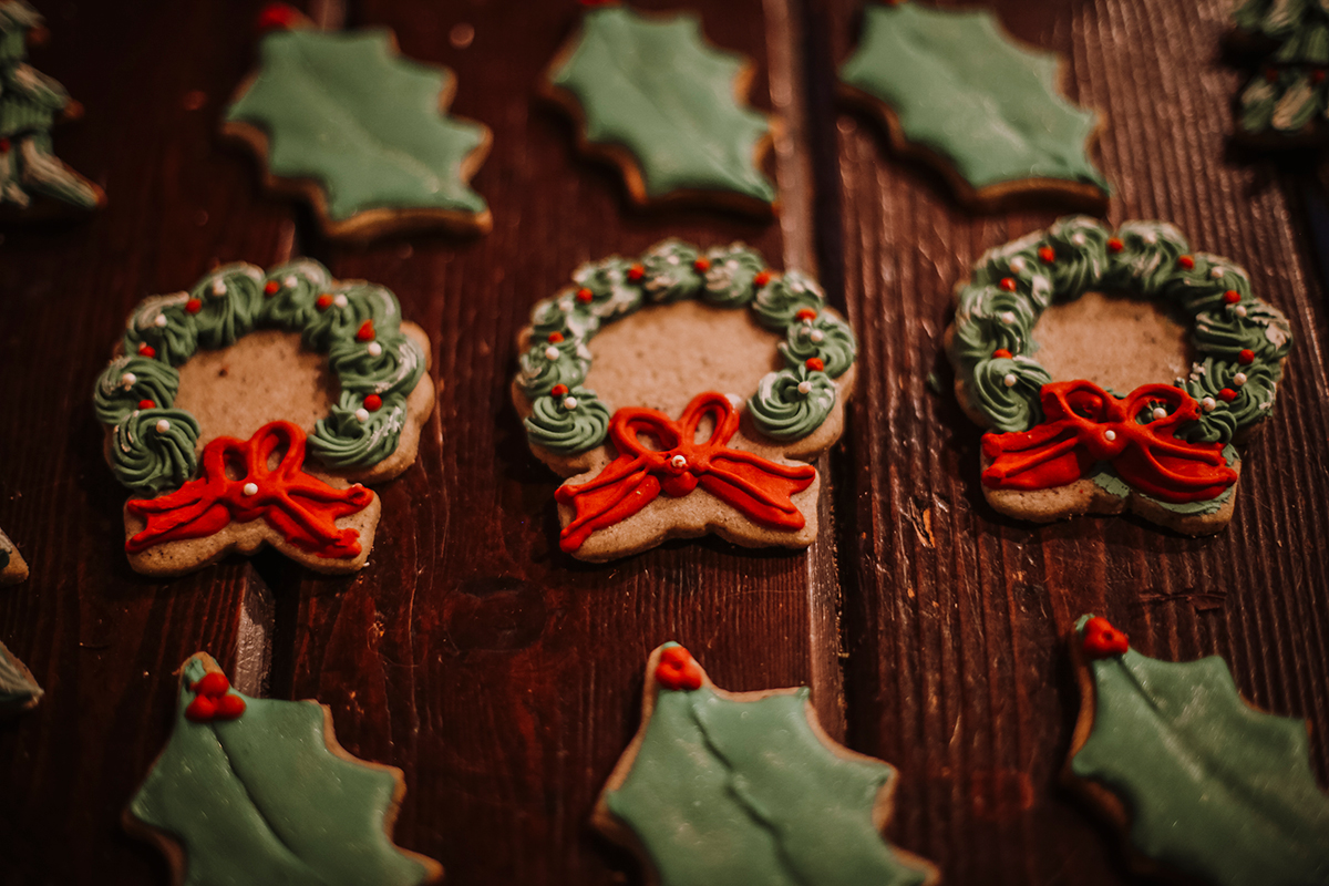 Christmas wreath cookies